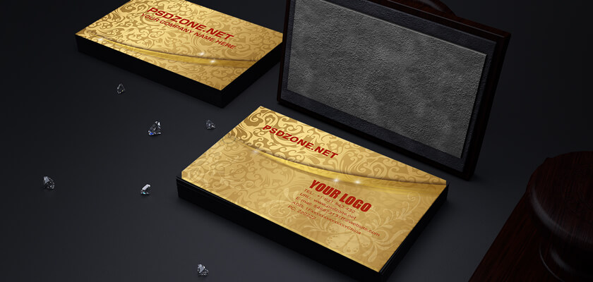 Golden designed business card template
