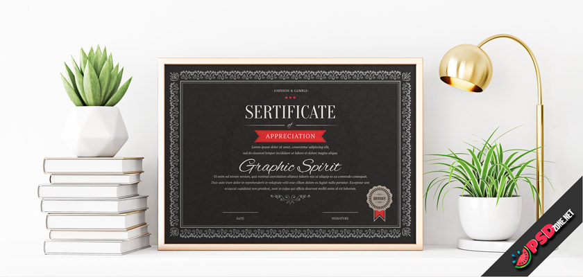 Black Dark certificate free download psd
