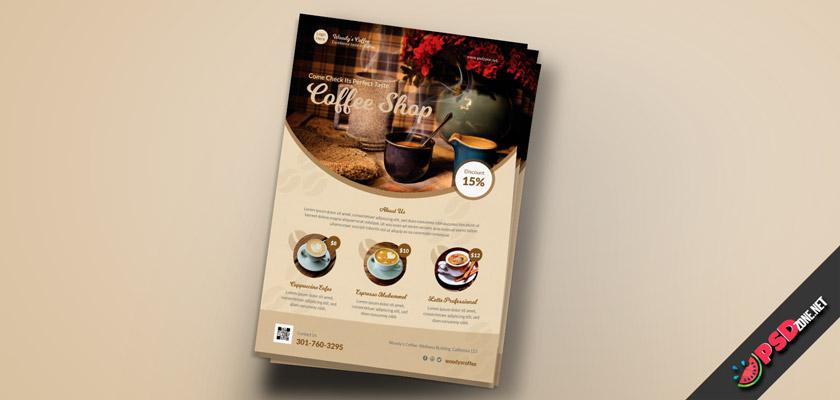 Espresso, capuchino, Latte flyer psd