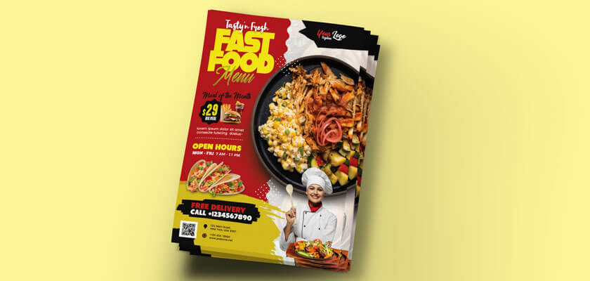 Fast food flyer template free download