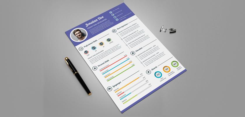 Creative Resume. CV free template