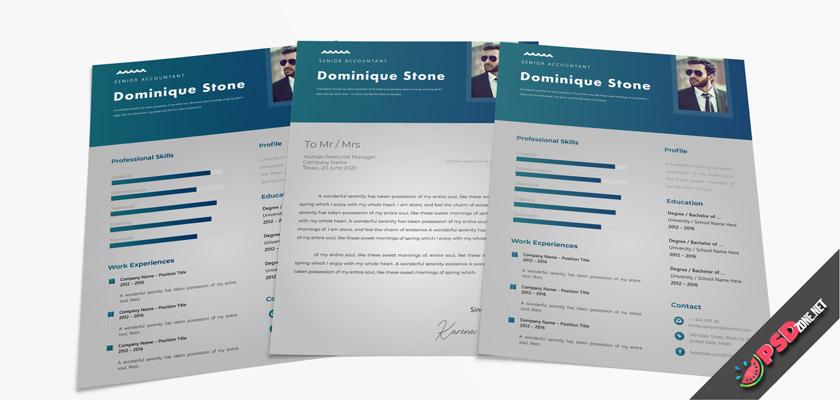 marketing resume free psd