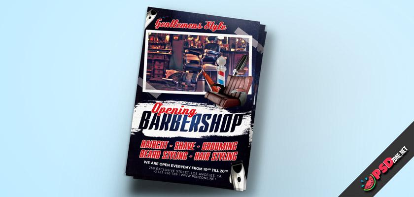barbershop haircut styling flyer