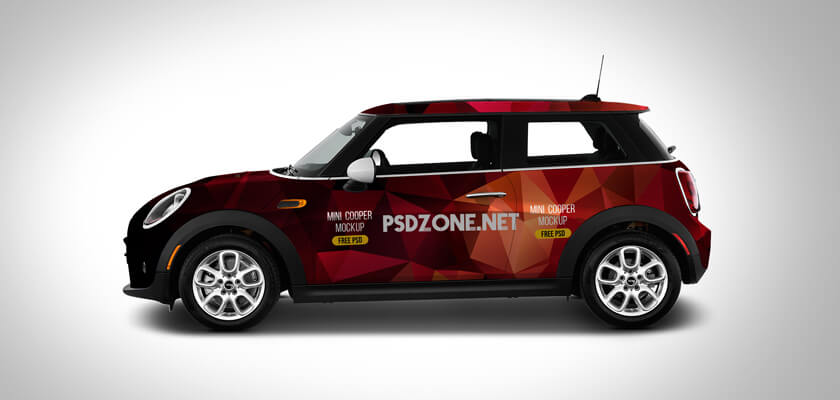 Car branding mockup psd template
