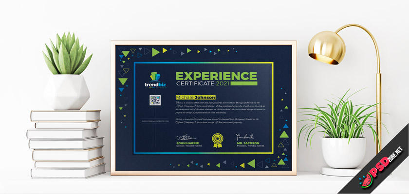 modern certificate free