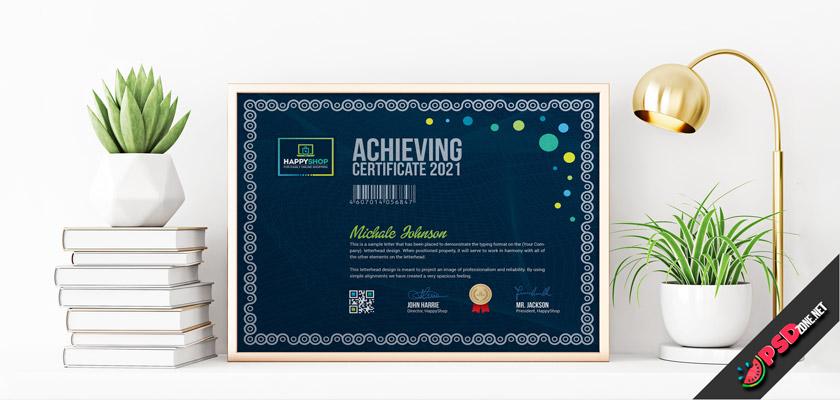 Free certificate editable, psd