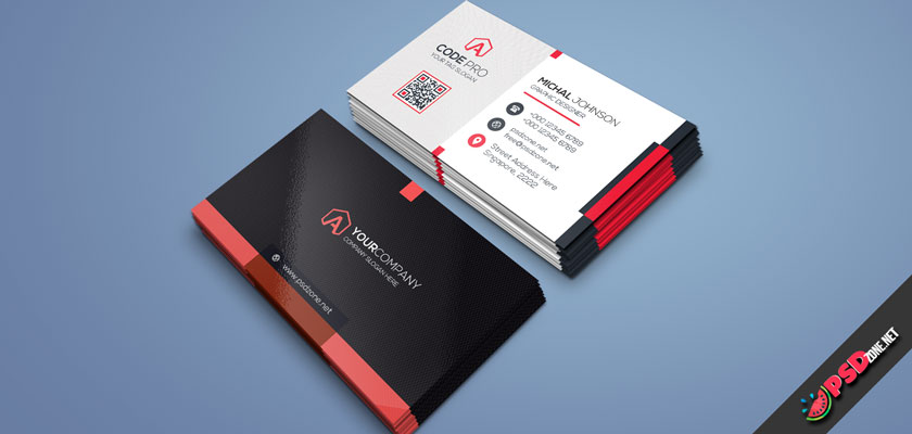 Red Cinematic Desing Business Card
