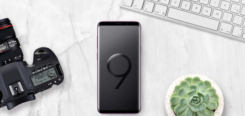 Photoshop mockup samsung S9+