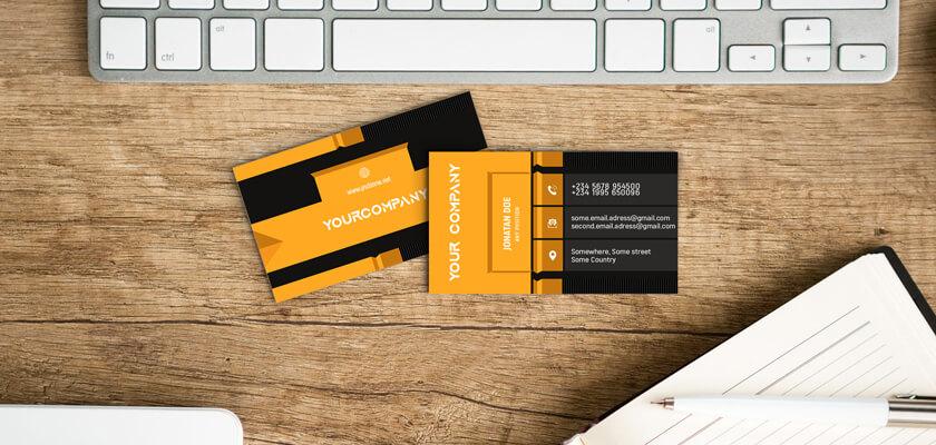 Creative 3D business card