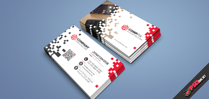 Accounting business card psd