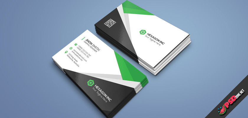 Audit company business card psd