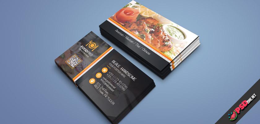 restaurant cafe business card free