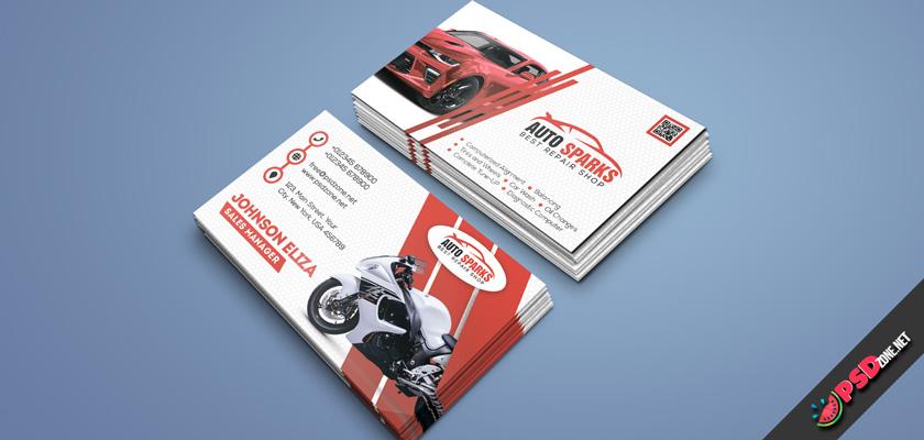 Auto repair business card psd