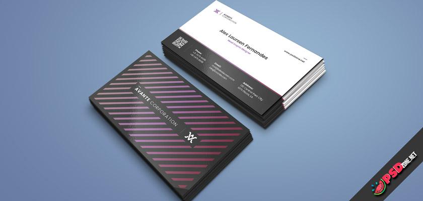 secretary business card psd