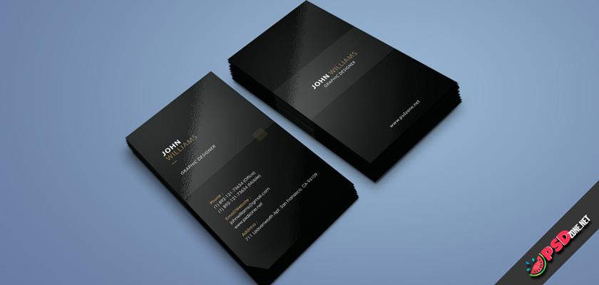 Dark business card free
