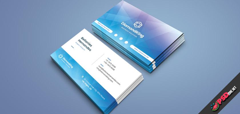 Diamond business card psd