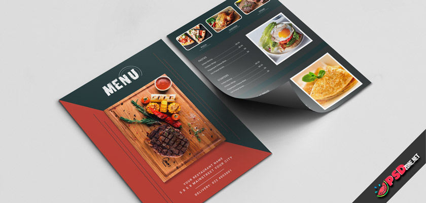 Restaurant dark menu free download
