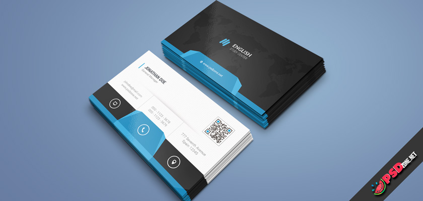 english teacher busness card psd