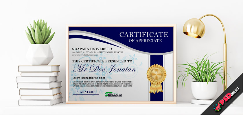 free certificate first place psd