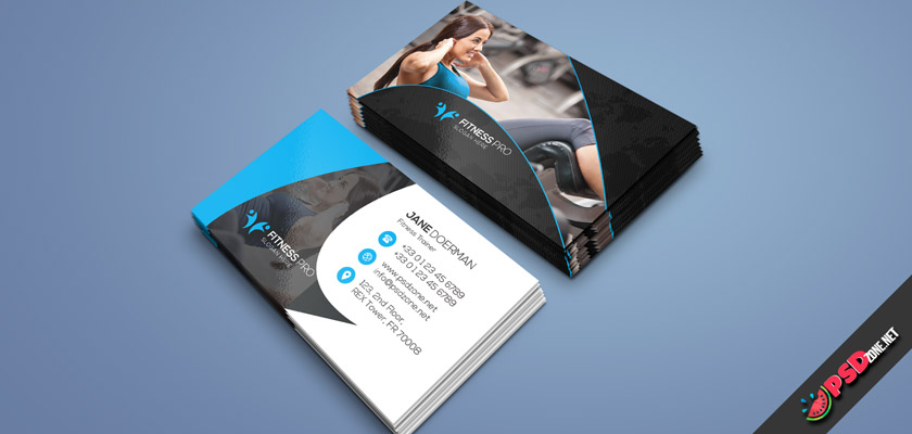 fitness girl business card
