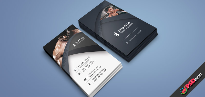 fitness business card free
