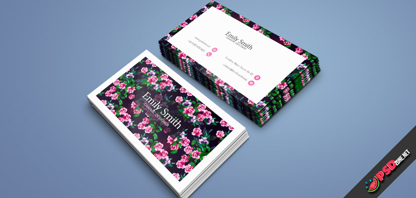 florist, flower shop business card free