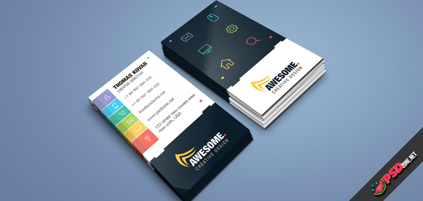 Computer Repair business card psd