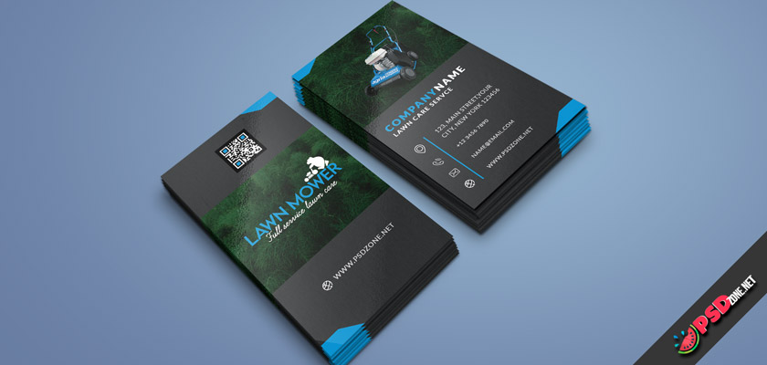 Lawn service companies business card