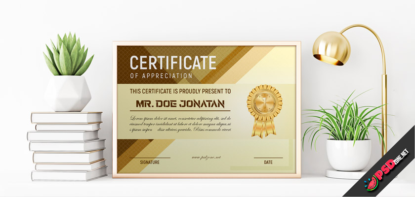 luxury certificate free psd
