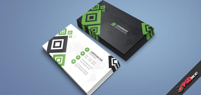 Marketing company business card psd