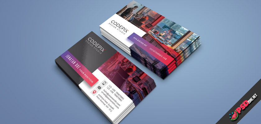 Officeworks business card design