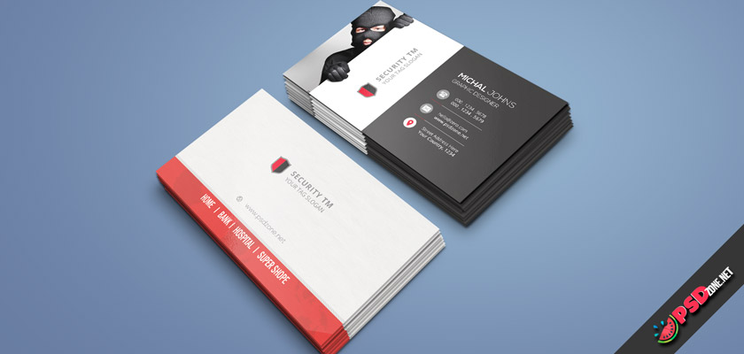 security business card design free