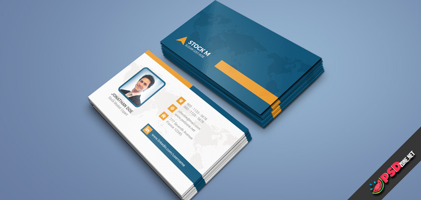 Stock market company business card psd