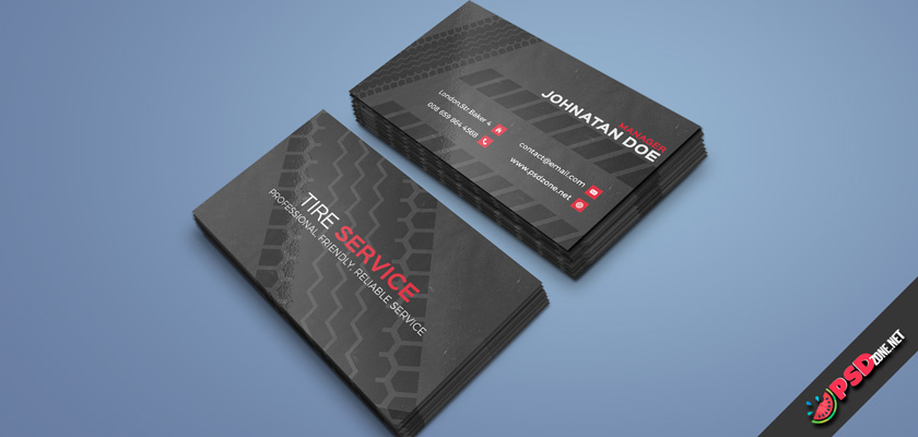 Tire Fitting business card free