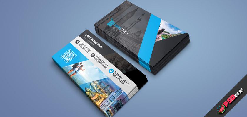 Travel, trip, voyage business card