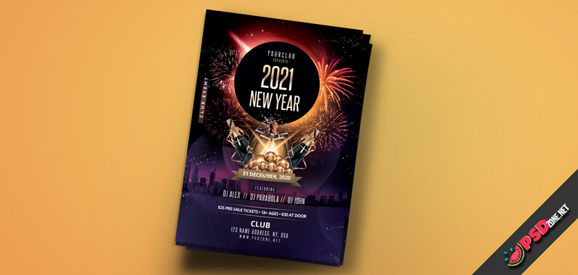 new year 2021 flyer free