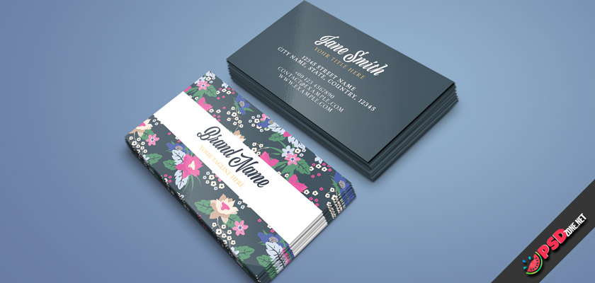 flowers business card free