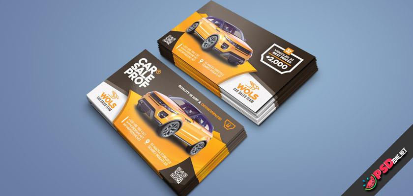 Cars Sale Business Card