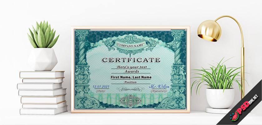 vintage certificate diploma