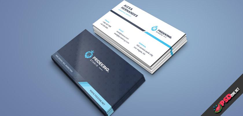 Company business card PSD template