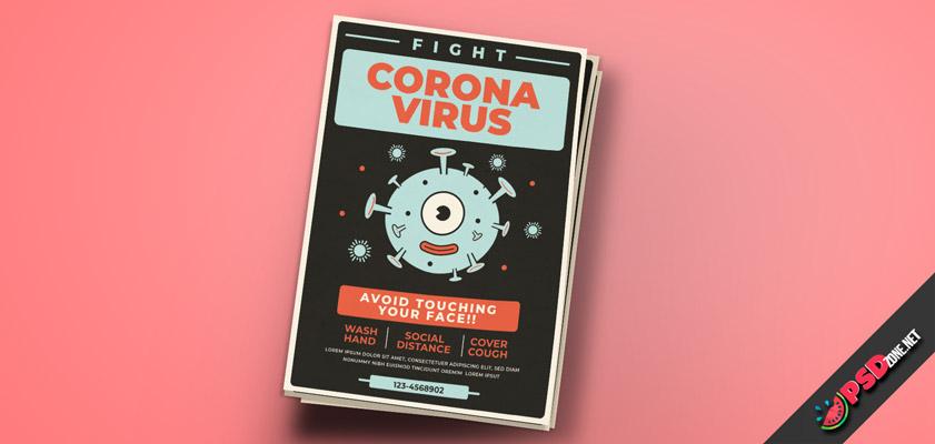 Corona virus medical flyers