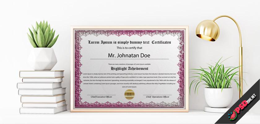Purple Certificate online