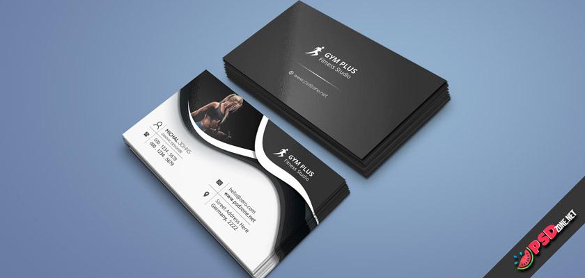 Fitness Club Dark business card free