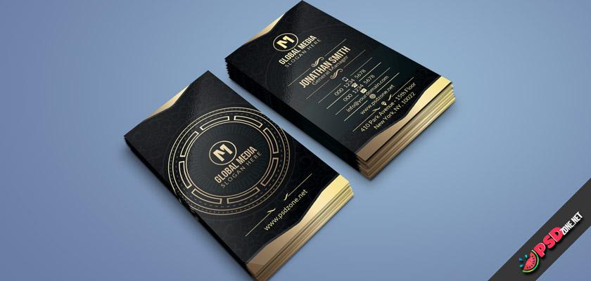 Golden Corporate Business Card