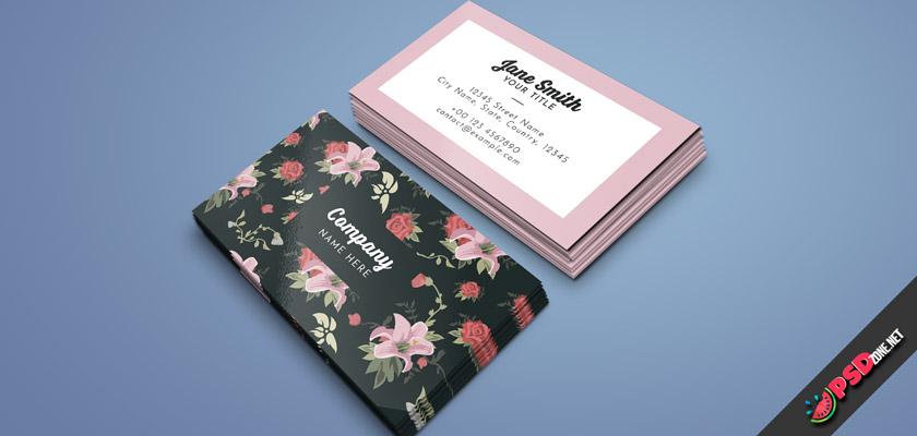 floral fantastic business cards