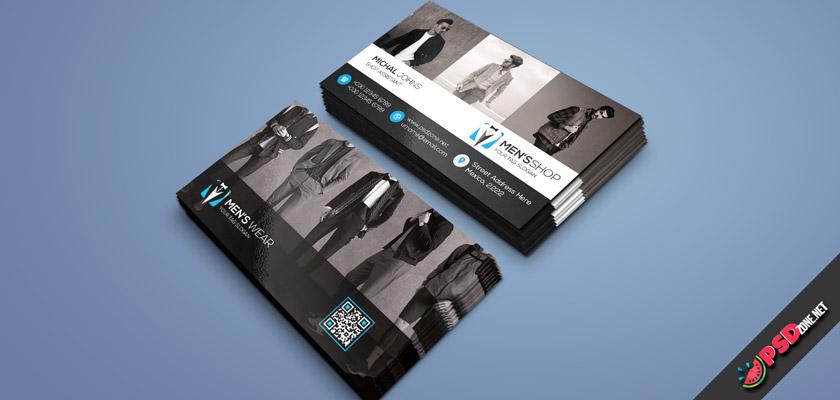 Mens clothing, men's wear shop business card