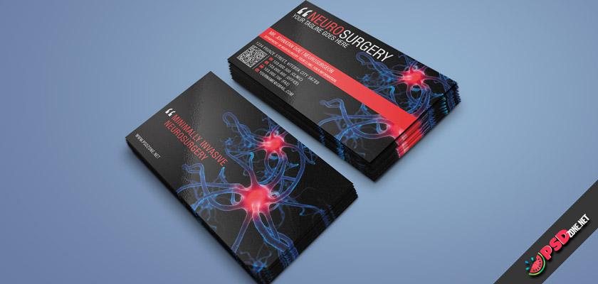 Neurosurgery Medical Business Cards