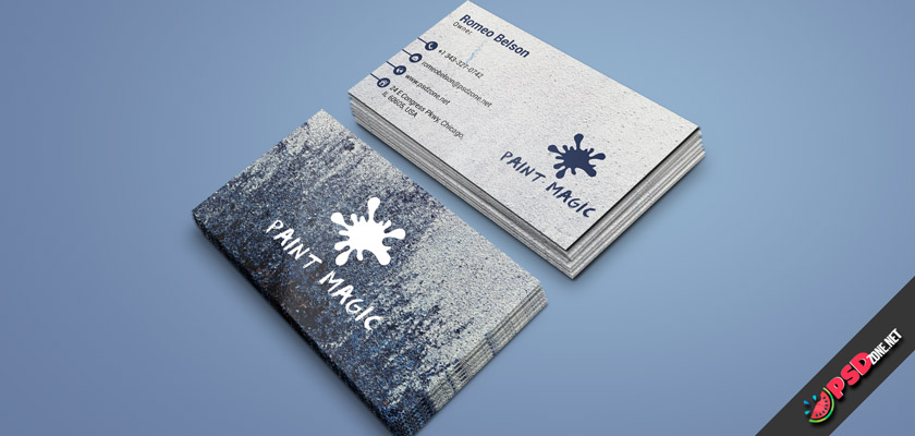 wall paint business cards