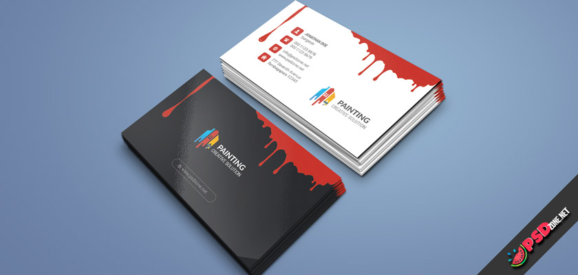 Painting, Painter business cards free download