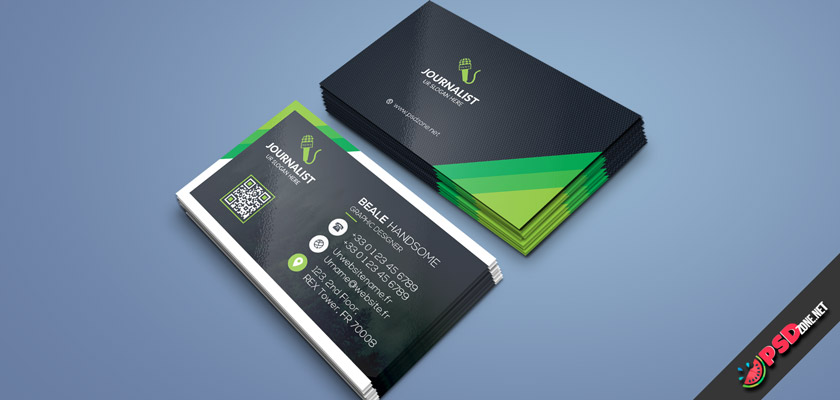 Reporter Correspondent business cards free